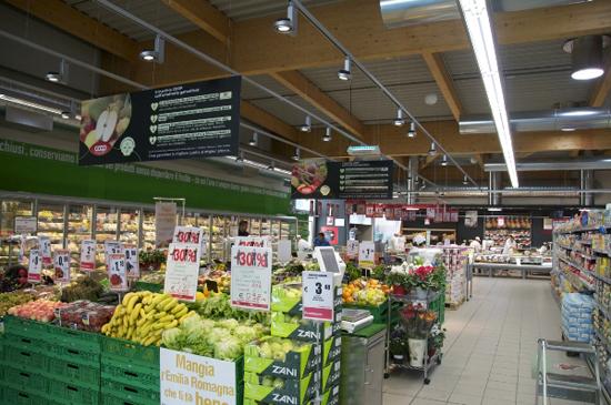 超市灯饰效果展示