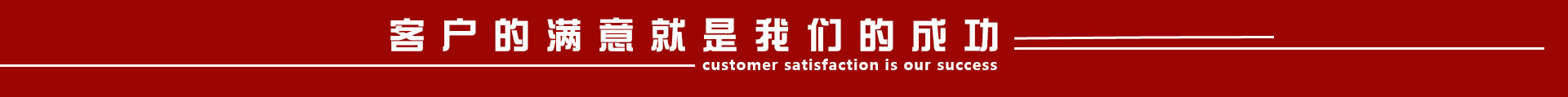 客户的满意就是我们的成功