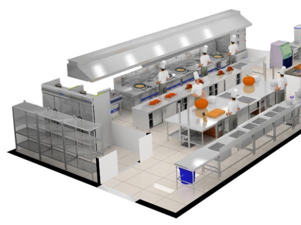 酒店厨房设计简述酒店厨房设备设计的注意事项