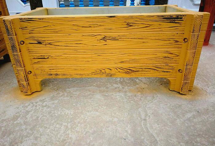 水泥仿木花箱