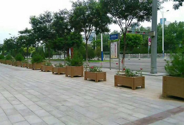 景观仿木水泥花箱