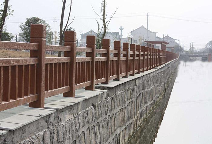 河堤仿木护々栏