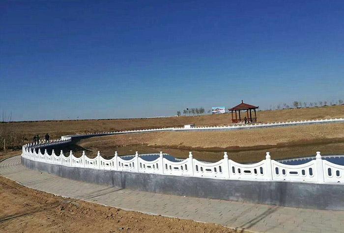 蘭州河提仿石圍欄廠家設計制造的