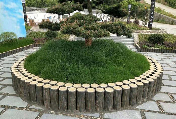花坛仿木围栏