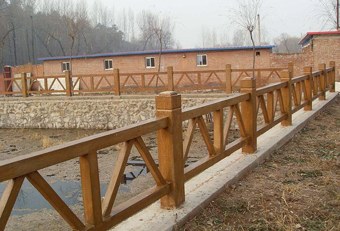 仿木水泥围栏