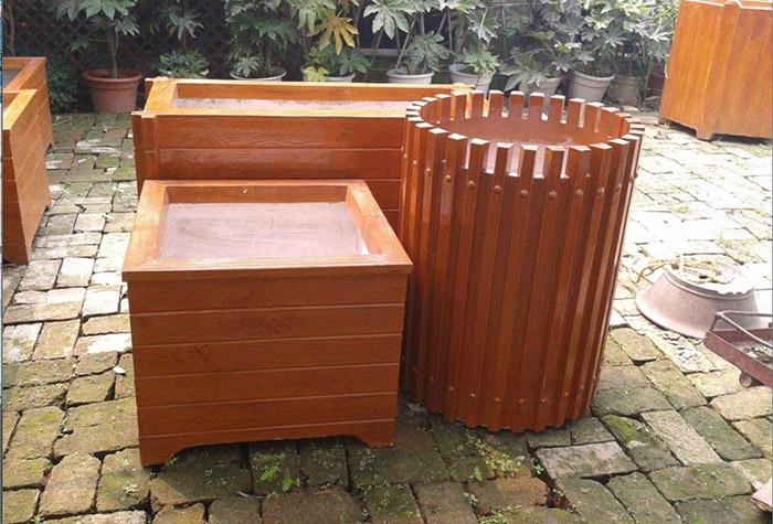 兰州仿木花箱厂家生产兰州水泥仿木花箱