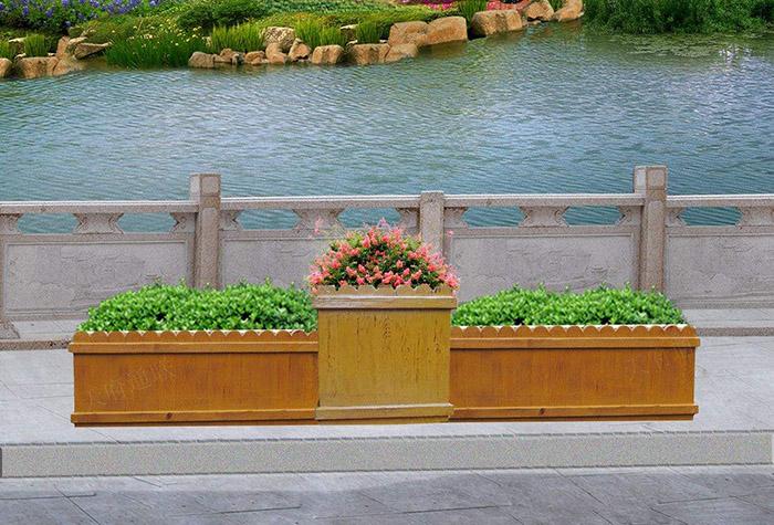兰州水泥仿木花箱在景观园林中占有举足轻重的作用