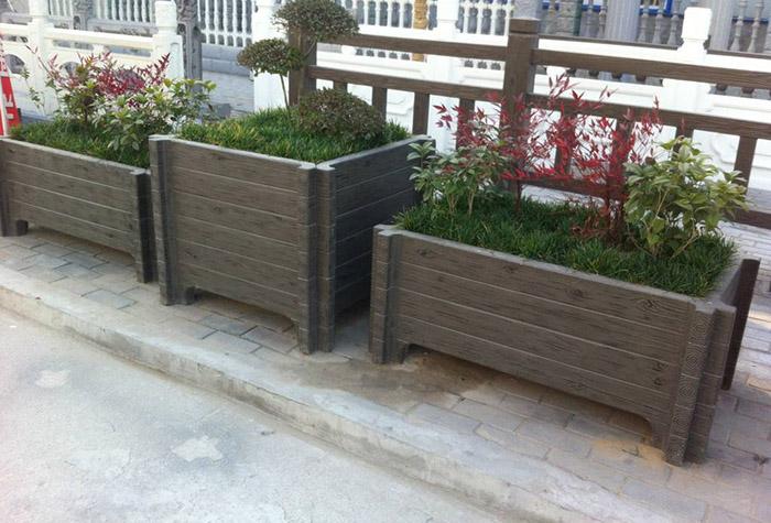 兰州水泥仿木花箱满足景观设计师的更多创意要求