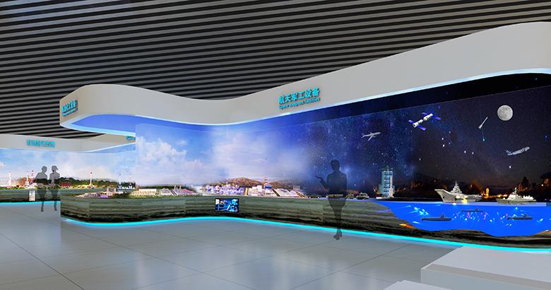航天军工设备展览馆设计效果