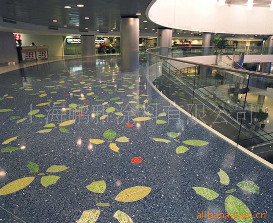 环氧水磨石彩砂地坪