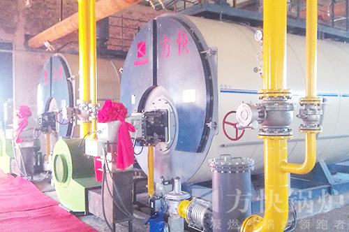 内蒙古飞艇基地燃油气热水锅炉案例