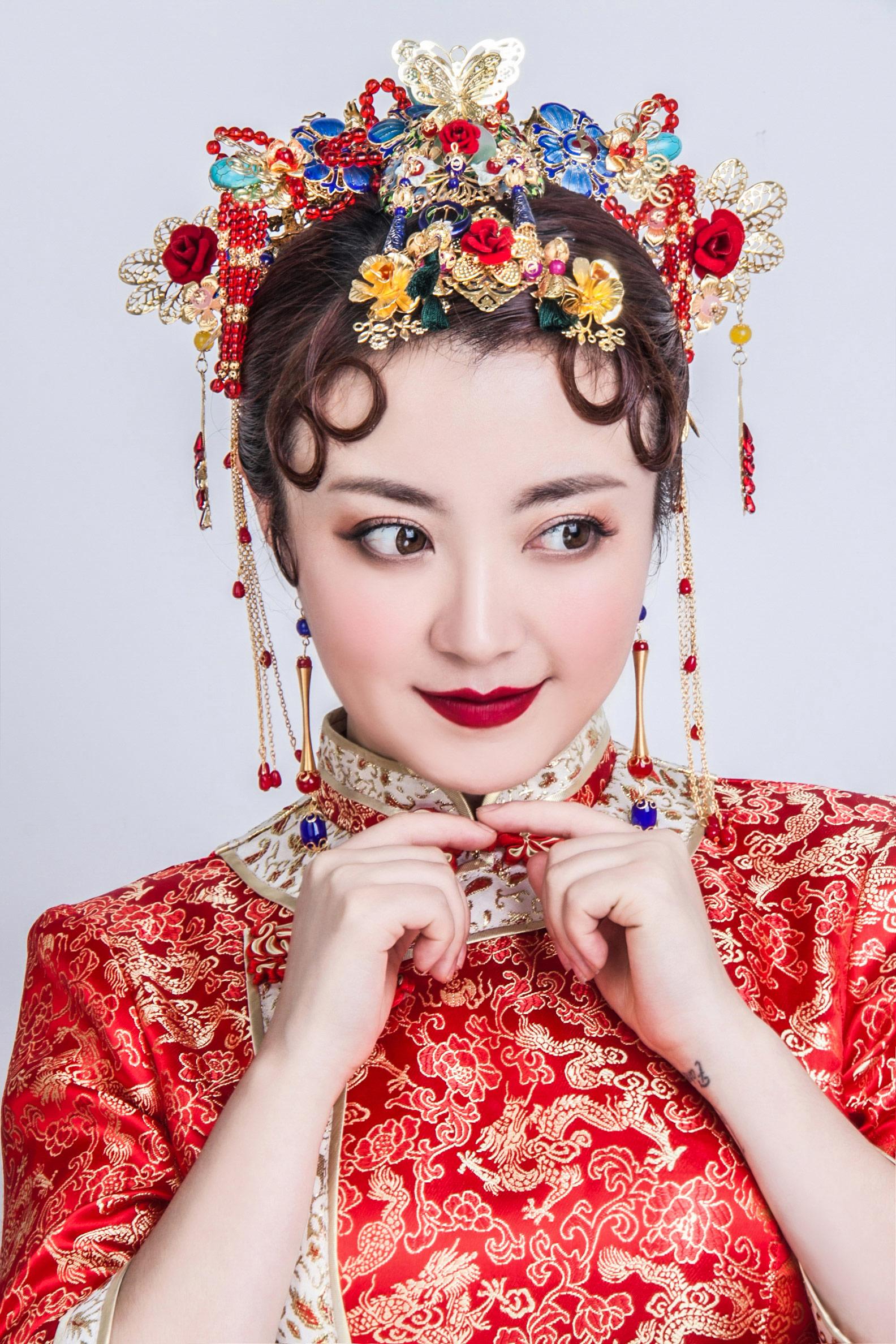 中式新娘化妆造型作品