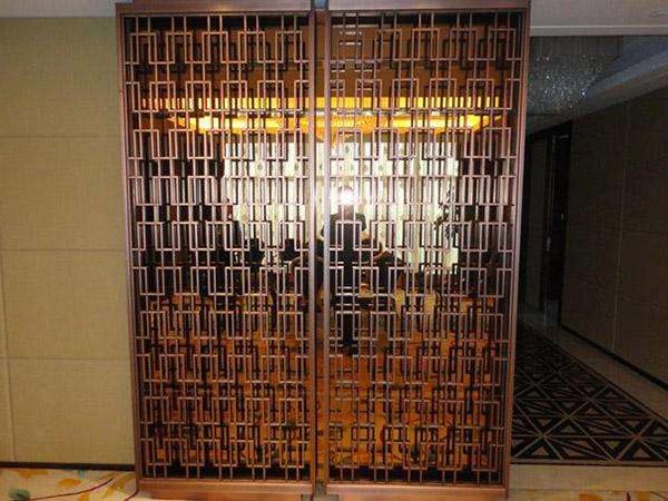 不锈钢屏风酒柜