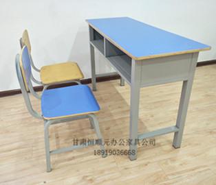 甘肃聚酯双人课桌椅