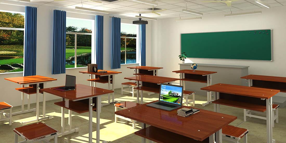 宏鑫家具的教室課桌工程案例