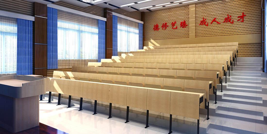 阶梯教室课桌椅工程案例