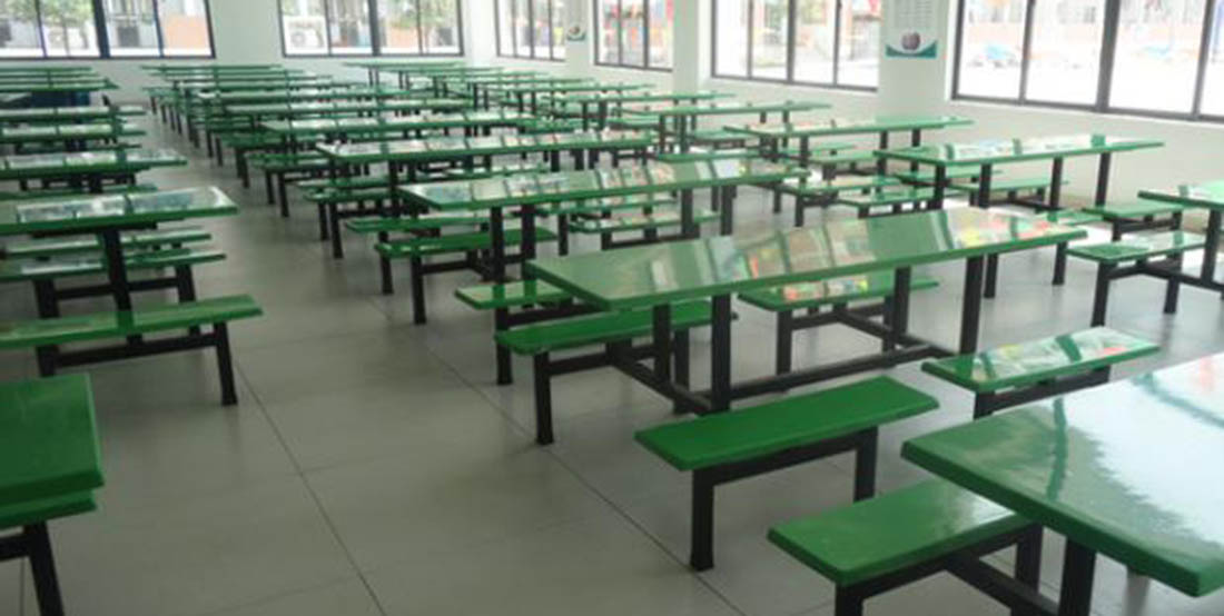 兰州的一些大学的食堂餐桌椅的展示案例