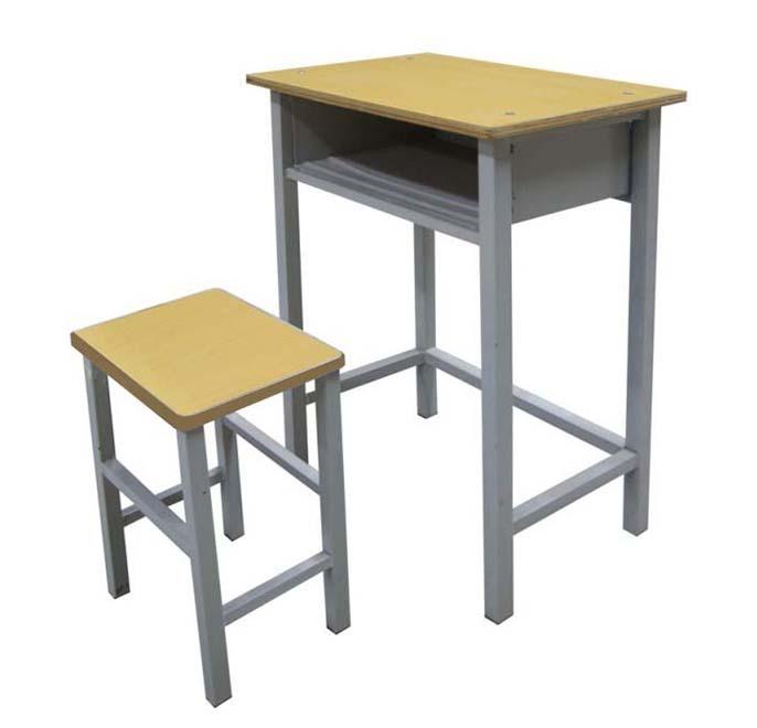 单人课桌椅型号HX-KZY-004