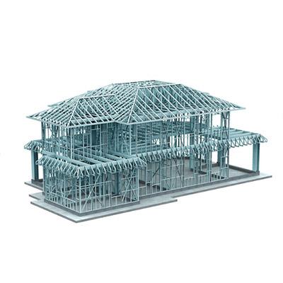 轻钢结构别墅设计