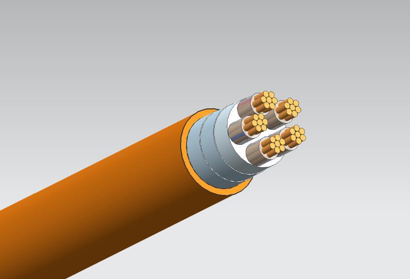 YTTWY隔离型柔性矿物绝缘防火电缆4*95+1*50