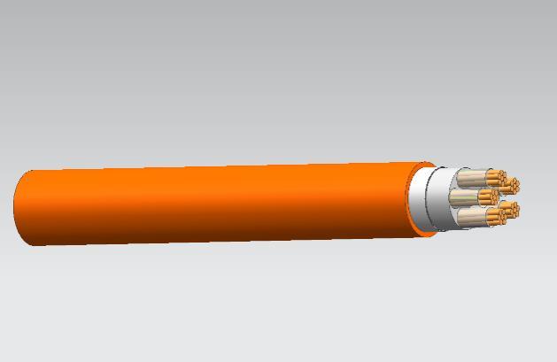 BBTRZ隔离型柔性矿物绝缘防火电缆4*50+1*25