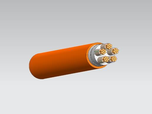 BBTRZ隔离型柔性矿物绝缘防火电缆5*16
