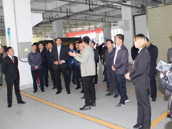 天水市委常委副市長趙衛東及五縣兩區發改委來車間考察