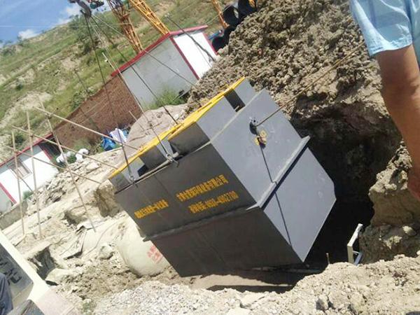 陇南西和县地埋式污水处理设备施工现场
