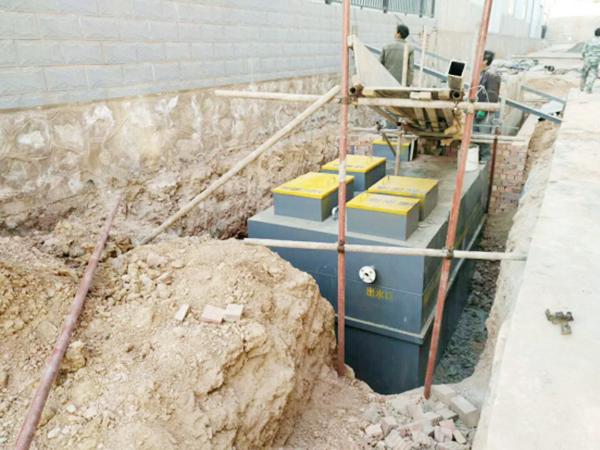 臺中大洋門窗廠地埋式汙水處置設備施工現場