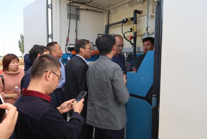 甘肃省各地市环保系统领导观摩我森续污水处理项目