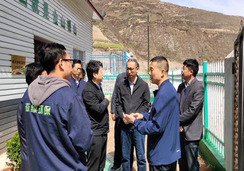 天水市董市长来武山项目检查指挥工作