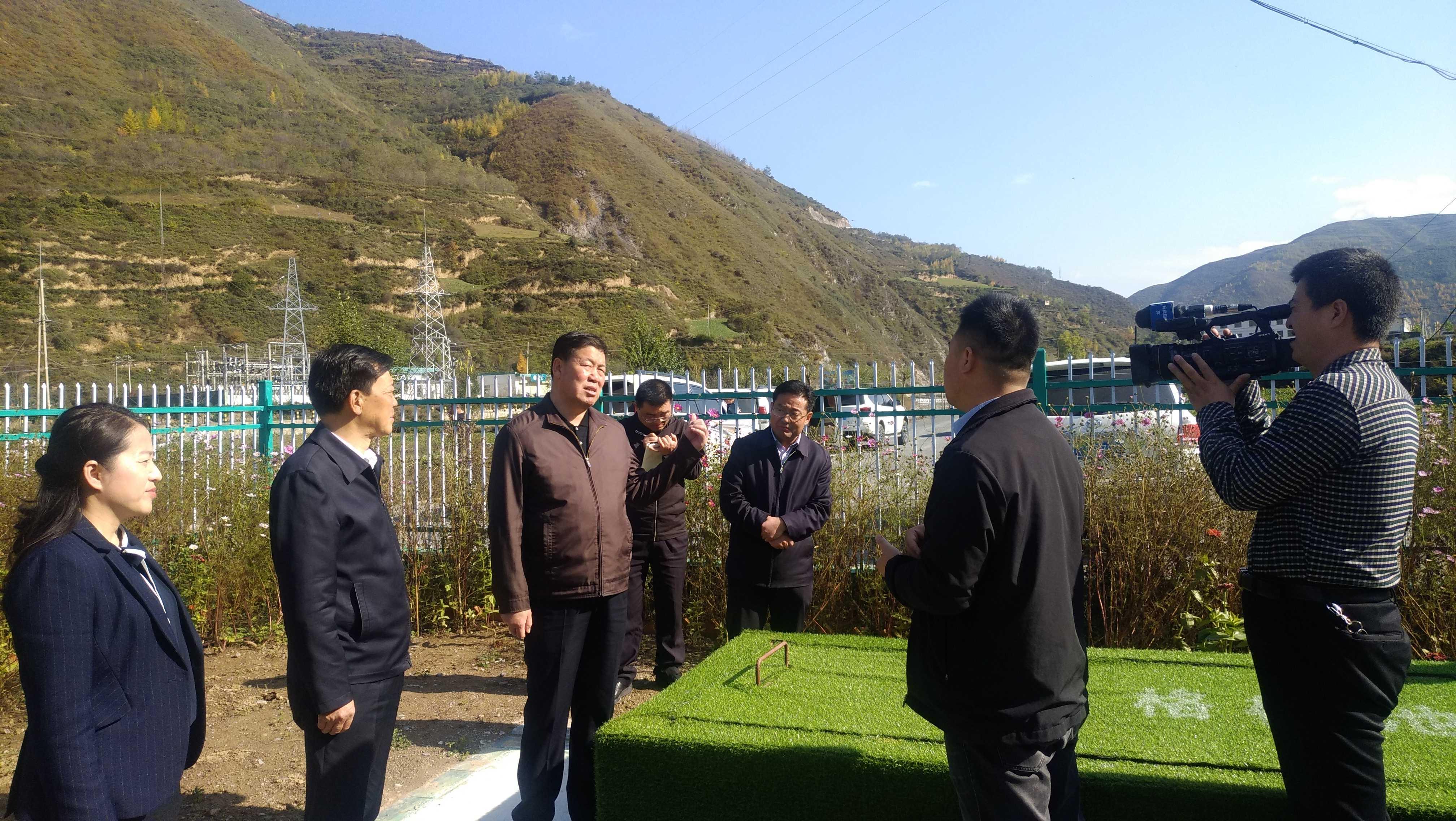 天水市市长考察武山县杨河镇污水治理试点项目