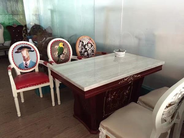 大理石中餐桌