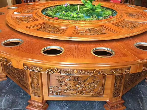 火锅雕刻桌