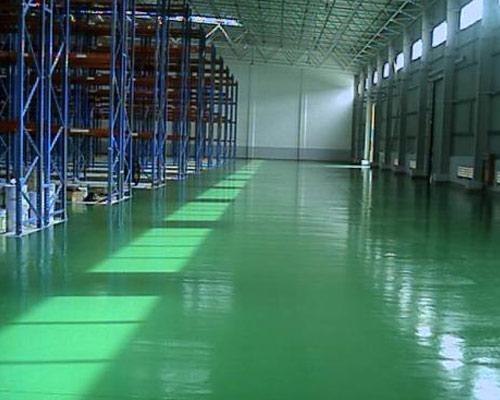 为兰州佛慈制药厂提供自流平环氧地坪施工
