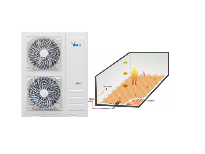 压缩蒸汽地暖采暖空气源热泵机组