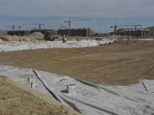 为甘肃警察职业学院进行的土工布项目