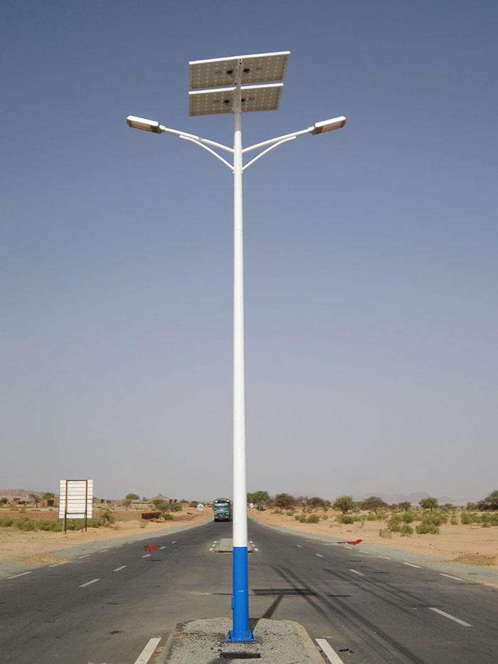 兰州双头太阳能路灯