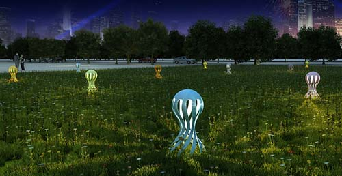 兰州户外草坪灯厂家分享草坪灯的布置原则