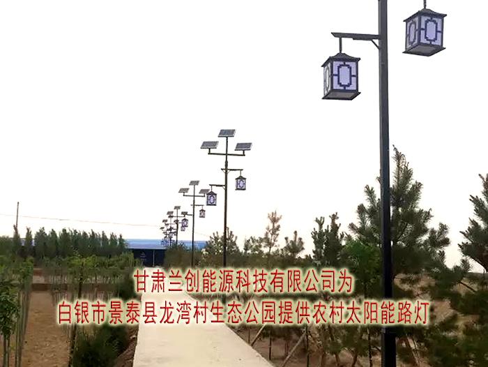 景泰县龙湾村生态公园提供农村太阳能路灯安装案例