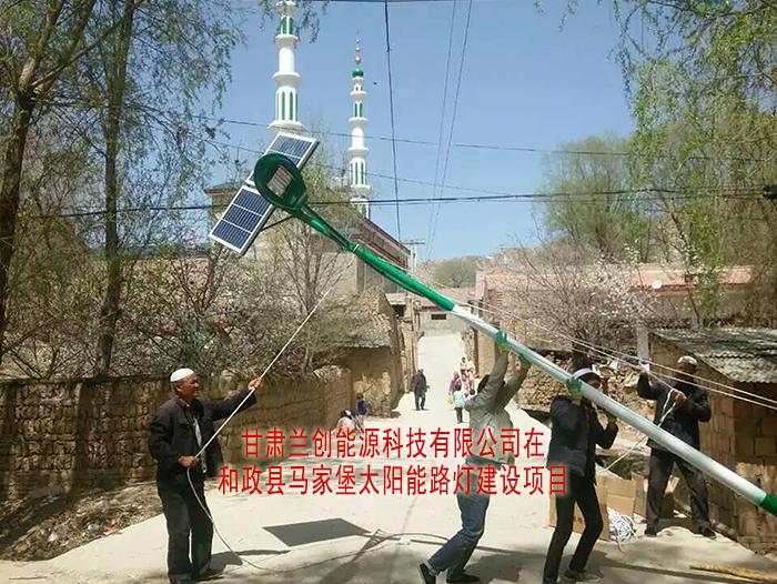 和政县马家堡太阳能路灯建设项目