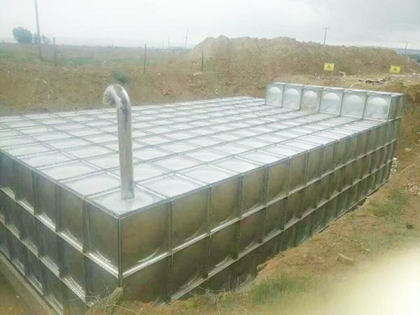 酒泉7号基地BDF地埋式水箱安装