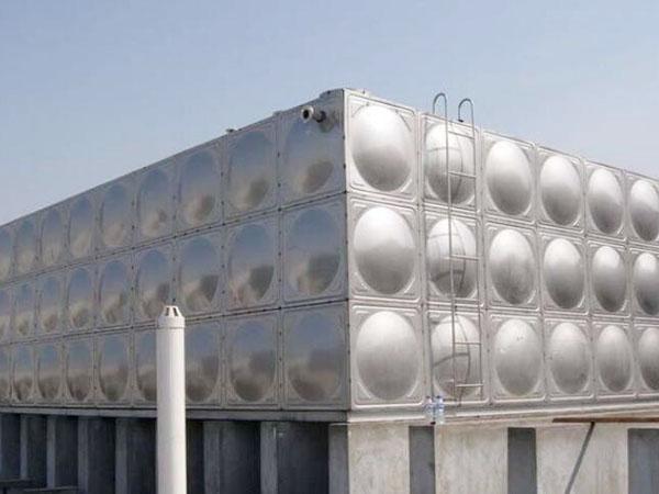 兰州恒大山水城不锈钢消防水箱工程