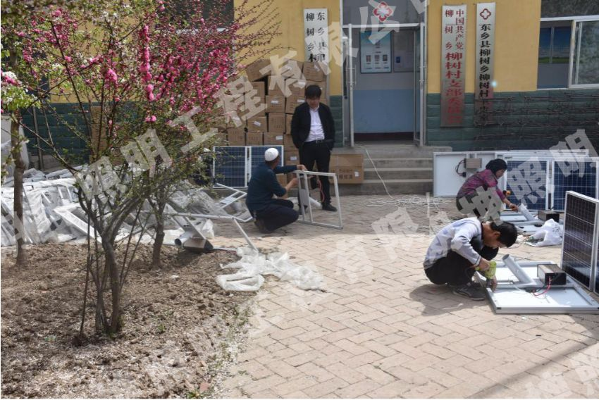 临夏东乡新农村太阳能路灯安装项目工程案例