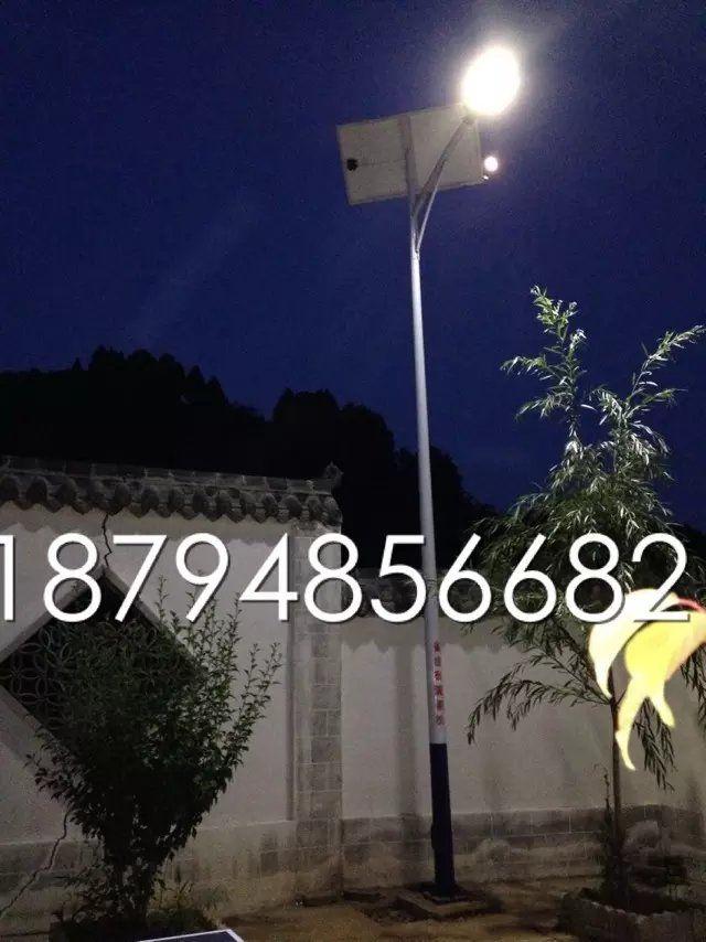兰州太阳能路灯|兰州太阳能路灯安装工程-夜间照明效果测试