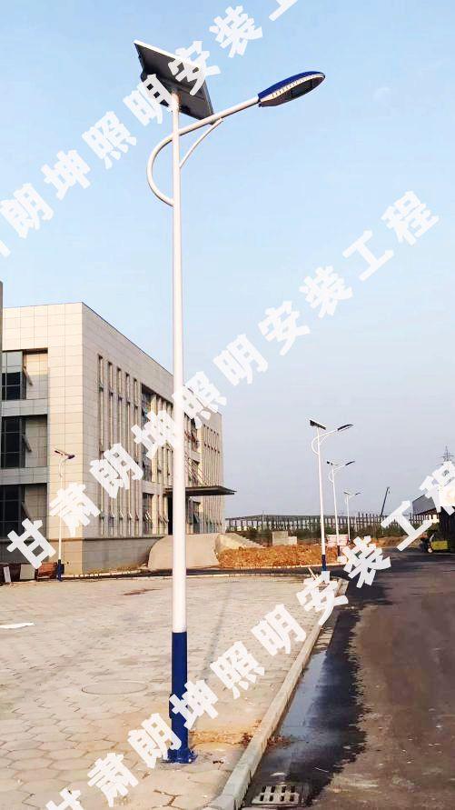 青海西宁7米太阳能路灯安装_海螺灯