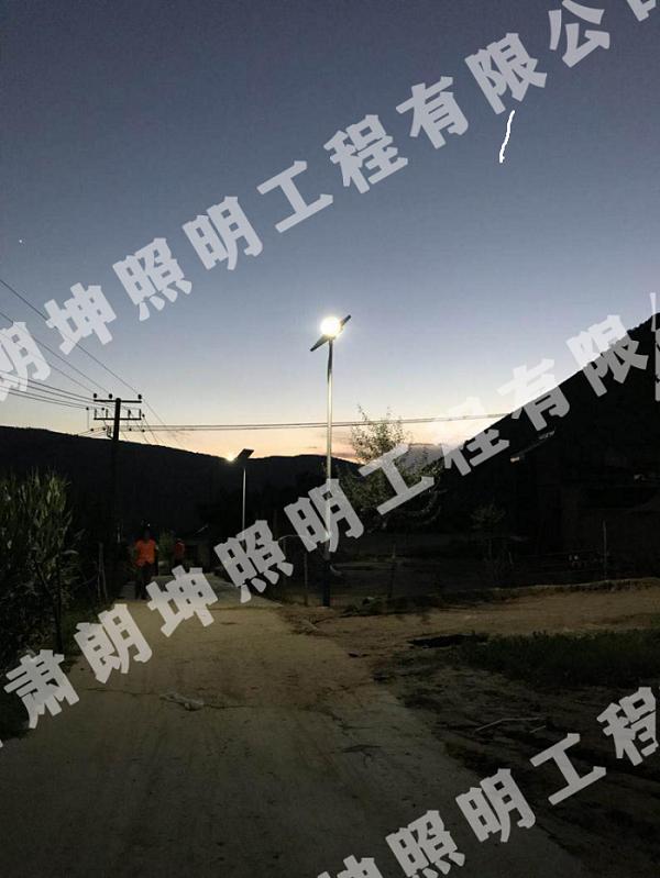 临夏农村路灯安装工程-夜间照明效果测试