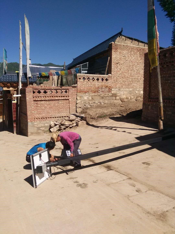朗坤照明太阳能庭院灯安装工程