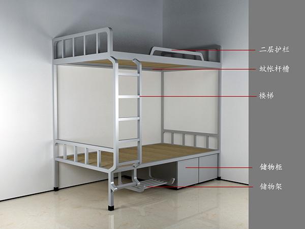 不锈钢单人高低床