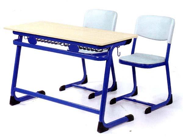 双人钢木课桌椅